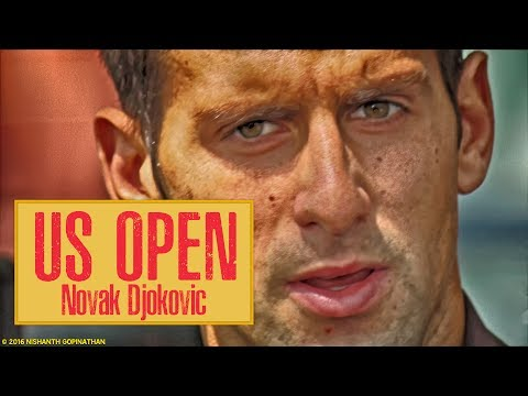 Novak Djokovic ( okovi ) imitates Sharapova, US Open Video