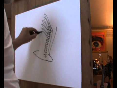 How to Draw a Realistic Bird Flying How to Draw a Flying Bird in