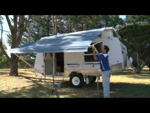 Goldstream Rv Pop Top Setting Up Awning Youtube