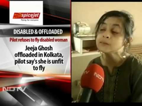SpiceJet Offloads Disabled Passenger (From NDTV)