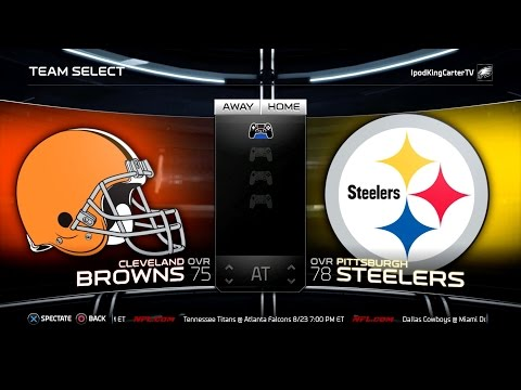 Madden Nfl 15 Ps4 Full Gameplay: Browns Vs Steelers - Week 1 Nfl Regular Season Matchup Simulation video