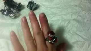 Кольца из проволоки и камней от Ксении 18