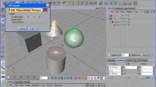 CD Transfer Tools 1.0 plugin for Cinema 4D part 1