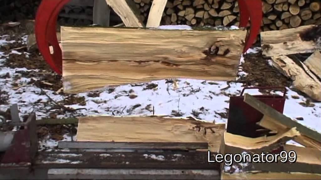 Holzspalter Mit Kran Liegender Holzspalter Mit Kran