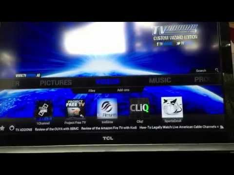 Amazon Fire TV Demonstration Fully Loaded with XBMC!