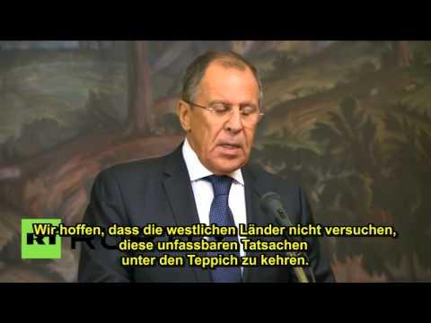 Sergei Lavrov, russ. Aussenminister ll Kriegsverbrechen Kiews in Donetsk