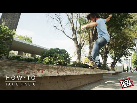 How-To Fakie Five-0 With David Reyes