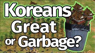 Koreans GREAT Civ or Garbage? High Level AoE2 1v1!