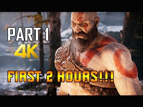 GOD OF WAR Gameplay Walkthrough Part 1 - First Two Hours!!! (PS4 PRO 4K Commentary 2018) thumbnail