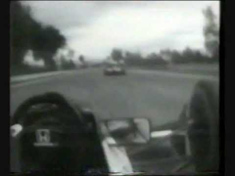 An exciting duel for 2nd place in Mexico between Berger and Mansell, including a rare pass on the outside of the banked Peraltada.
