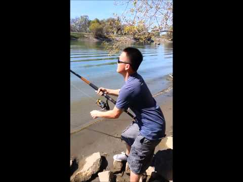 Hmong Sturgeon fishing