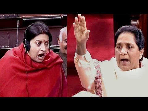 Smriti Irani, Mayawati's heated face-off in Rajya Sabha on Rohith suicide issue