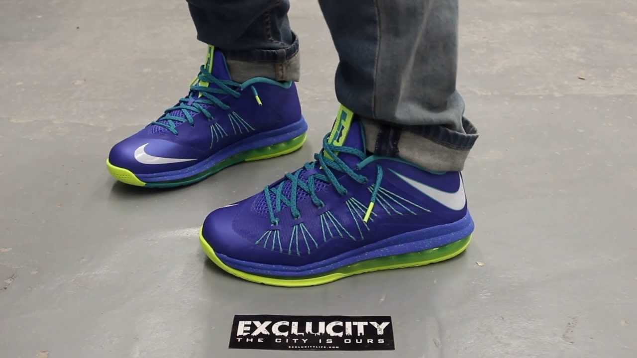 air max lebron x low quotspritequot onfeet video at exclucity