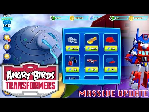 Let's Play UPDATED Angry Birds Transformers - Levels, Squads, Outfits, Grey Slam Grimlock (v1.3.18)