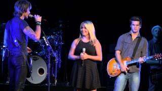 """Keith Urban Video - Sammi Rae Seacrist (17) """"We Were Us"""" duet w/ Keith Urban Virginia Beach"""