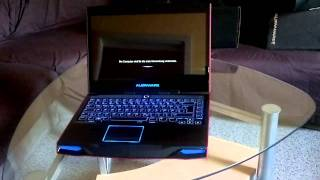 Alienware M14X Nebula Red Unboxing + first boot-up & reboot