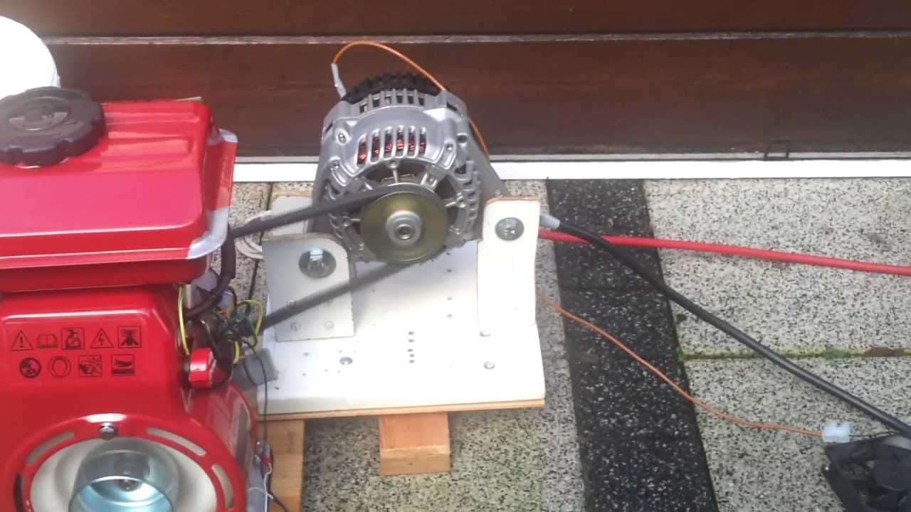 Diy 12v Dc Generator First Run Youtube