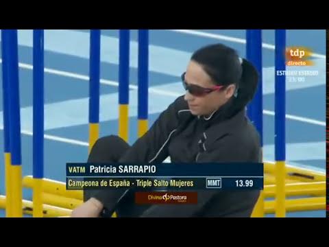 Triple salto femenino Campeonato de España 2013 en pista cubierta parte 2 de 2