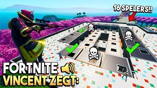 KIES HET JUISTE PAD  in VINCENT ZEGT - Fortnite Creative met 16 SPELERS!
