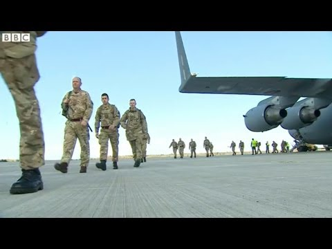 Ukraine Crisis: British Troops Arrive in Estonia - BBC News [HD]