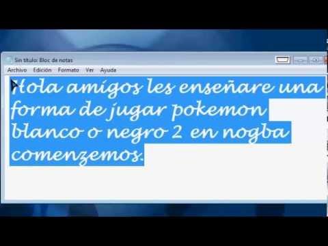 Como jugar Pokemon Blanco y Negro 2 en español en no$gba.