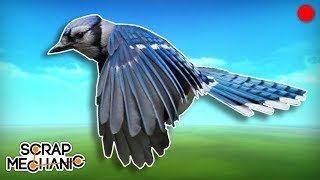 Building a Flying Bird! - Scrap Mechanic Live Stream