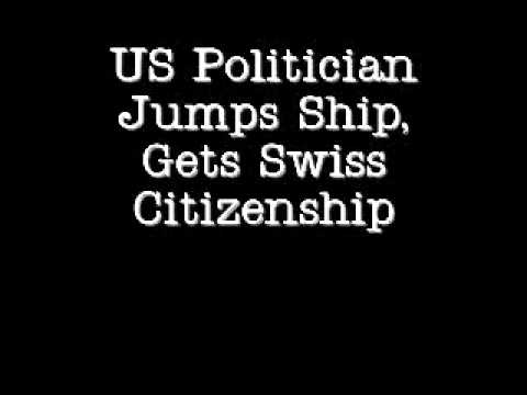 US Politician Jumps Ship, Gets Swiss Citizenship