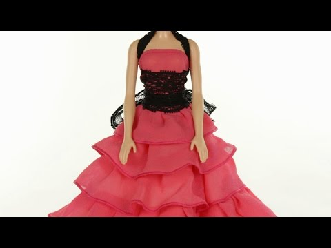 Длинное платье для барби своими руками 26