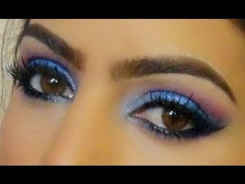 Maquiagem AZUL (Para FESTAS)