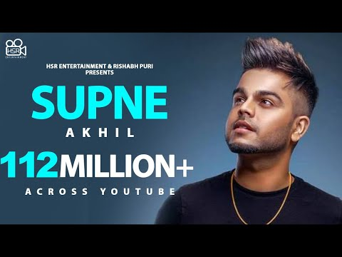 Supne - Akhil | Official | Full Video Song | Latest Punjabi Love Songs | Yellow Music