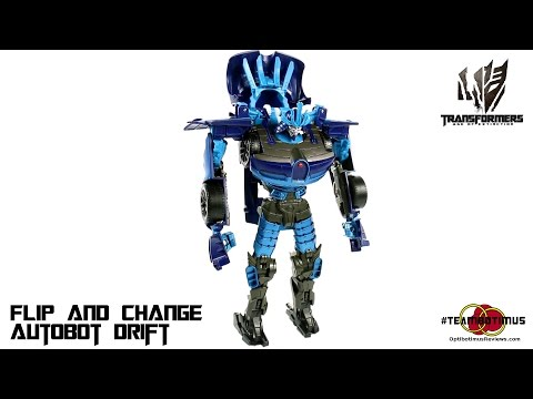 Video Review of the Transformers Age of Extinction: Flip and Change Autobot Drift
