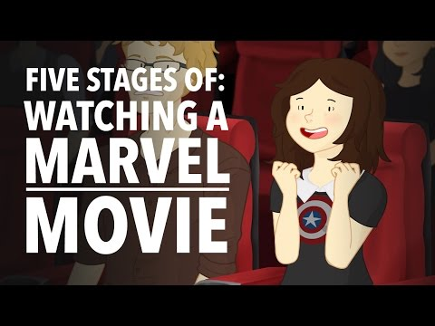 Five Stages of Watching A Marvel Movie HISHE Features: OnlyLeigh