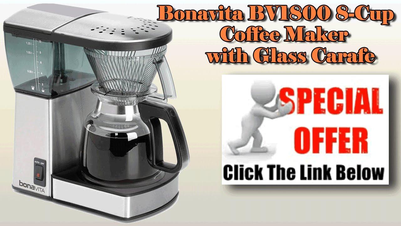 Bonavita Bv1800 8 Cup Coffee Maker With Glass Carafe Review : Bonavita Coffee Maker - Bonavita BV1800 8-Cup Coffee Maker with Glass Carafe - YouTube