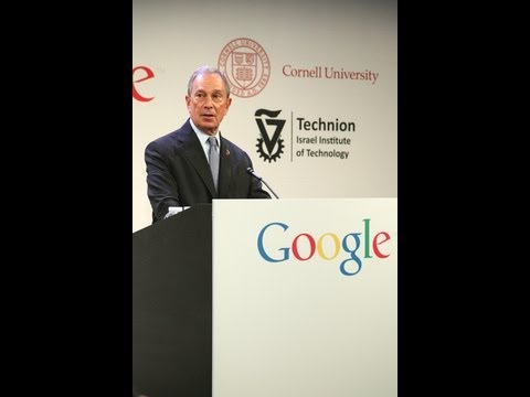 Mayor Bloomberg, Google CEO Page, & Cornell President Skorton Make Announcement