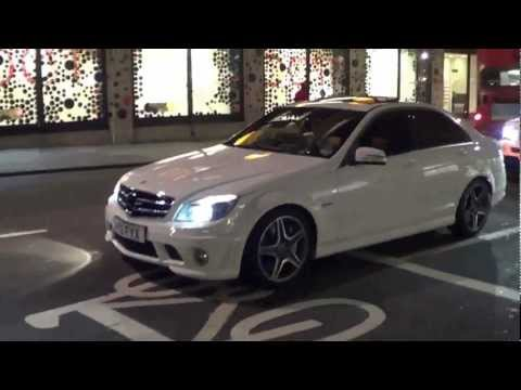 DECATTED C63 AMG Crazy Revving and Accelerations in London!!