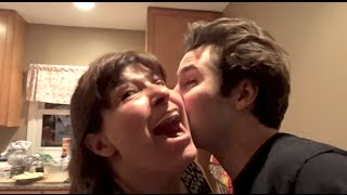 KISSING MY FRIENDS MOM!! | David Dobrik