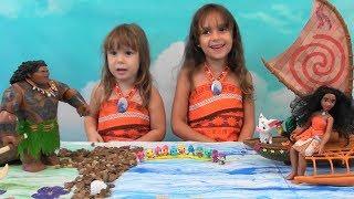 Moana Story: Disney Moana Toy Set, Maui, Hatchimals Collectibles: Moana and Maui Dolls, Moana Boat