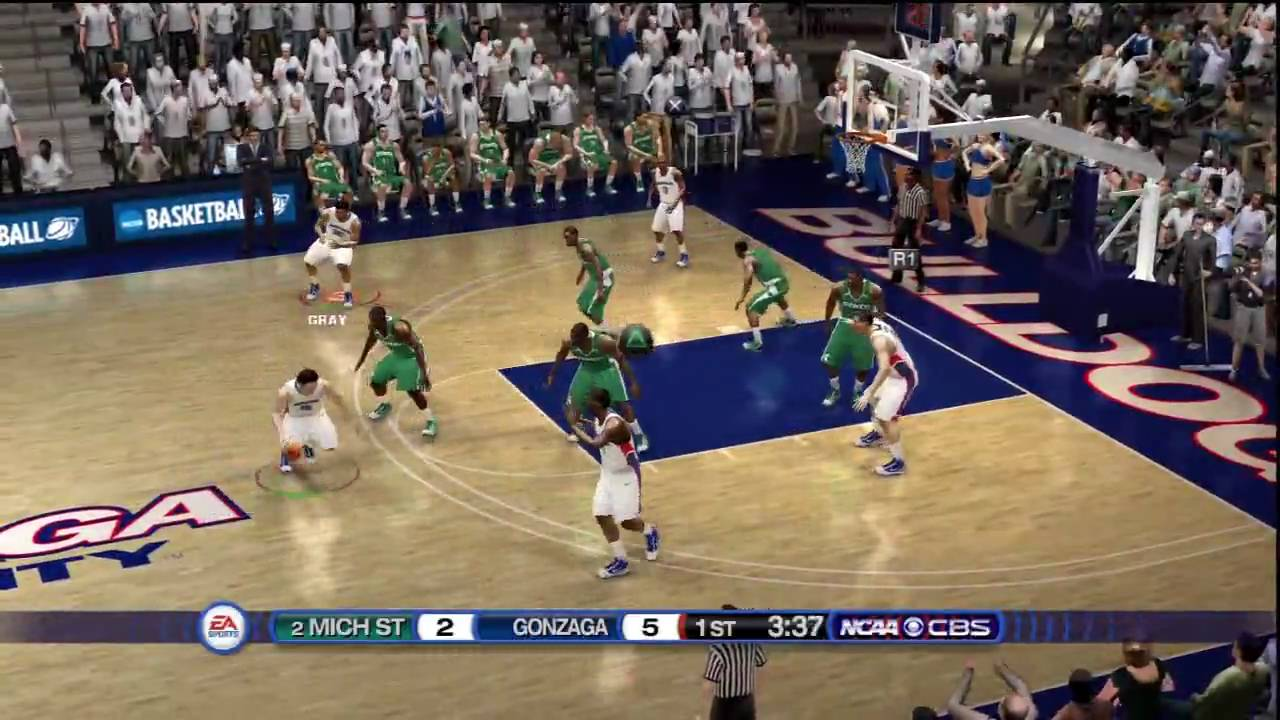 NCAA Basketball 10 (PS3) Gonzaga vs. Michigan State CBS ...