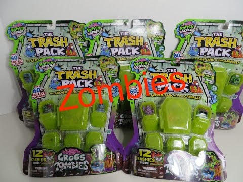 Trash Pack Gross Zombies Rotten Series Huge Haul Unboxing Toy Review Trashies