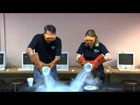 Let's Pour Liquid Nitrogen on the Floor!
