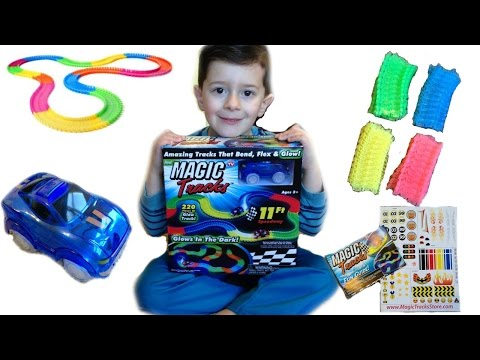 As Seen On TV Glow In The Dark Magic Tracks With Light Up Car Toy Review thumbnail