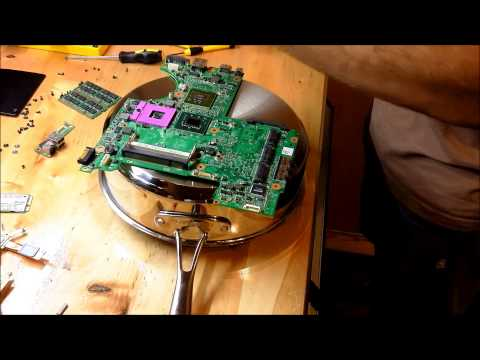Fixing a Dell Motherboard with Heatgun Reflow (or Oven) Nvidia Graphics GPU Issue