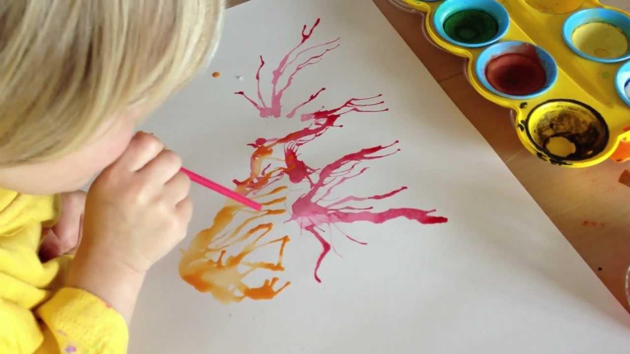 La peinture à la paille - YouTube