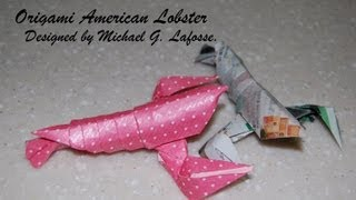 Origami American Lobster - How To Fold An Origami Lobster