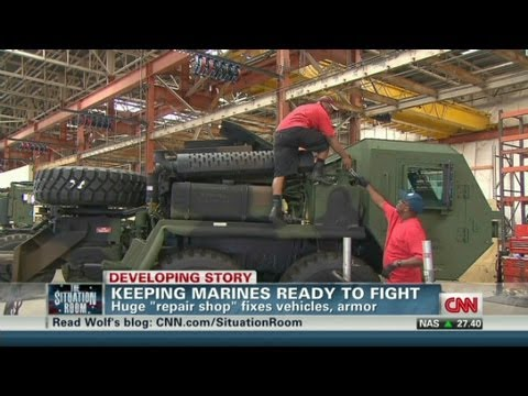 Marines repair used military equipment from afghanistan and iraq