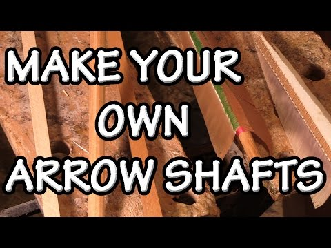 How to make your own arrow shafts with a Shooting Board. quick guide