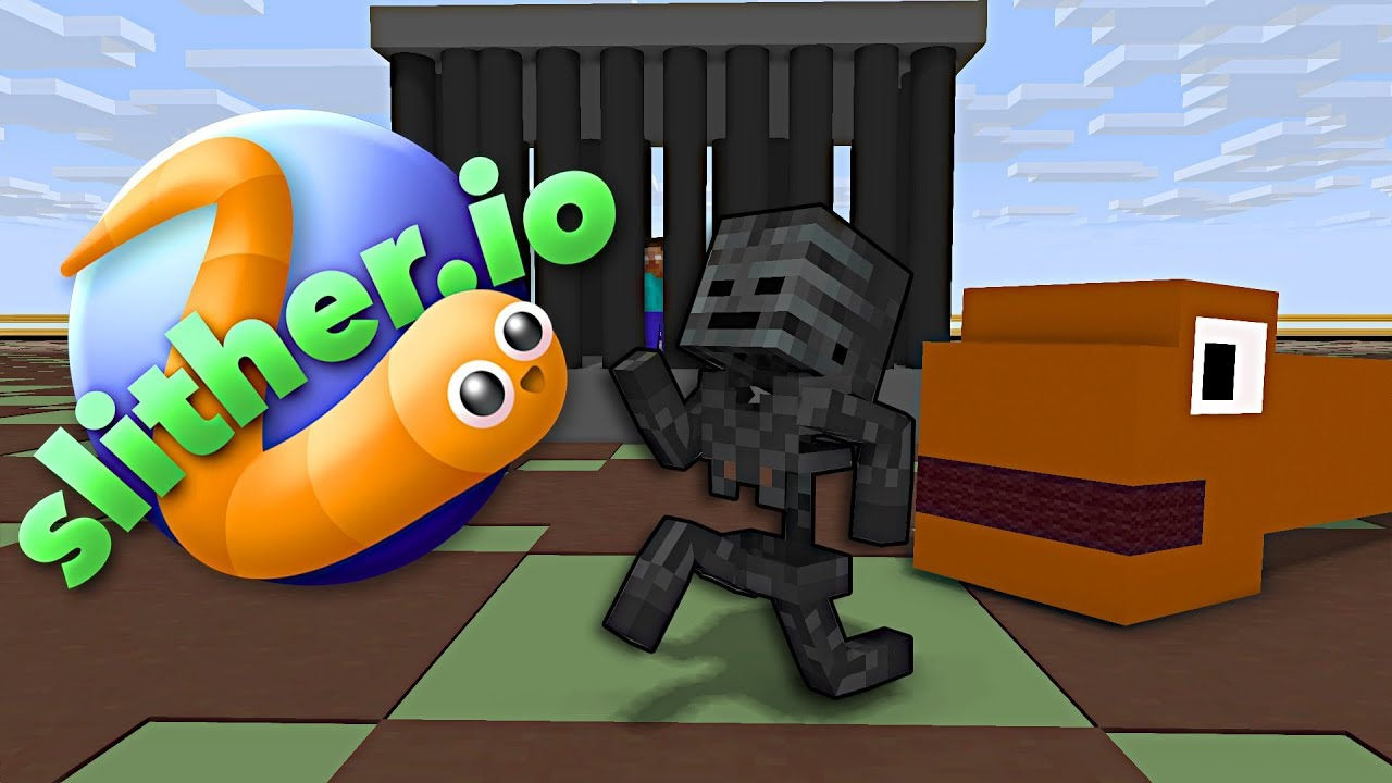 Monster School : SLITHER.iO CHALLENGE - Minecraft Animation