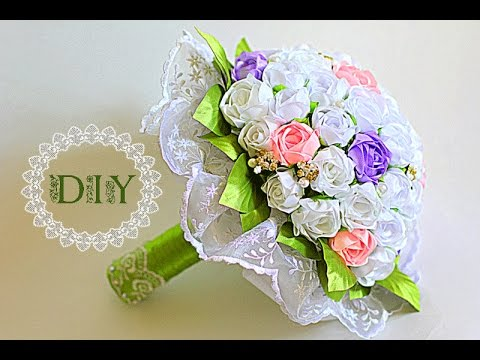 Букет цветов своими руками из роз