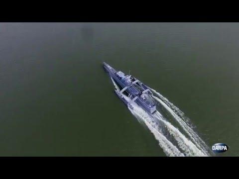 無人の対潜艦ACTUVの航行テスト映像