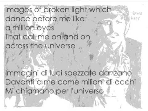 Beatles Cover - Across the universe with lyrics (testo + traduzione italiano)